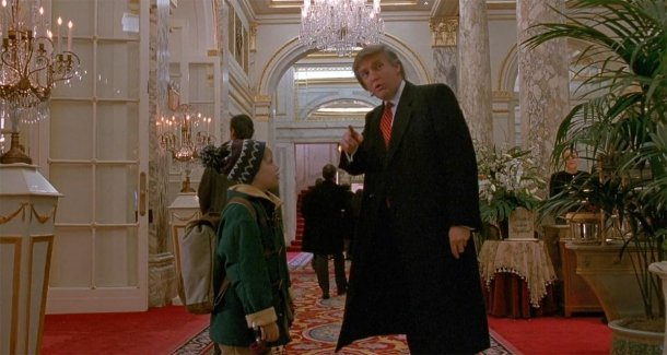 "Shot from the film ""Home Alone-2"""