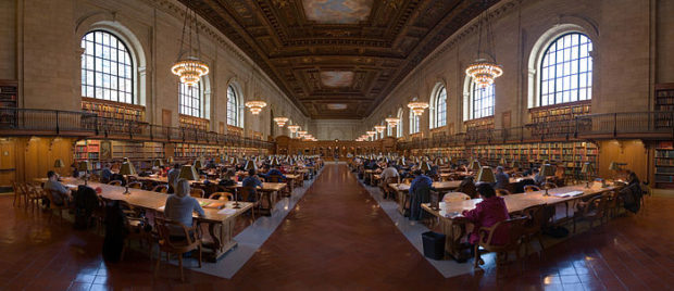 The New York Public Library in New Yor City