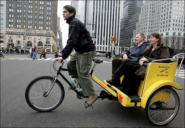 A bike taxi in NYC