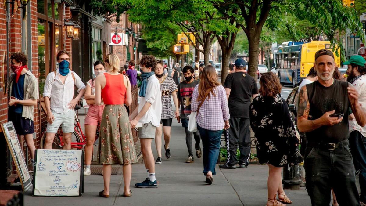 The sidewalk in NY