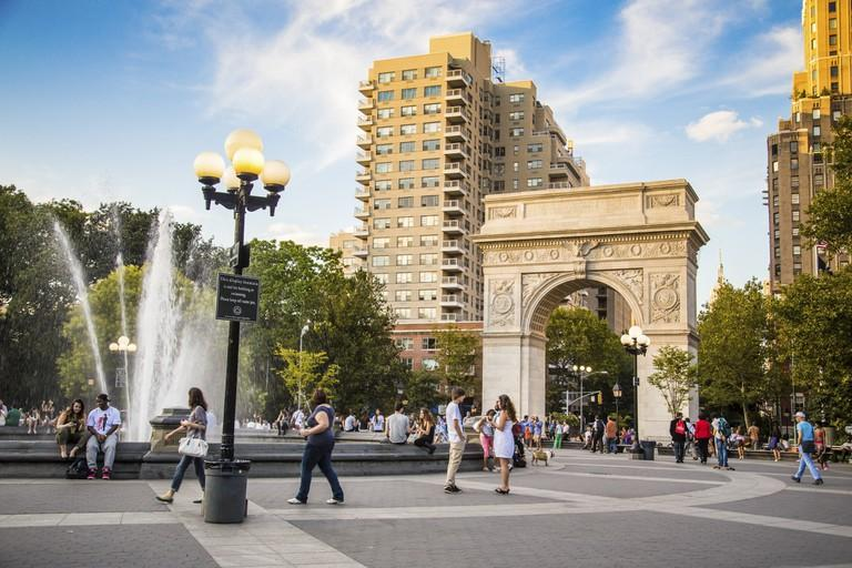 View of Washington Square Park in New York City.